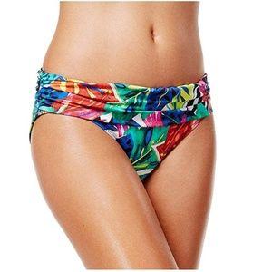 Ralph Lauren shirred hipster bikini L